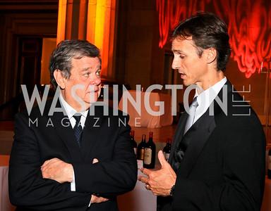 John Coale, Robert Marshall. Photo by Tony Powell. Heart's Delight Vintners Dinner. Mellon Auditorium. May 7, 2010