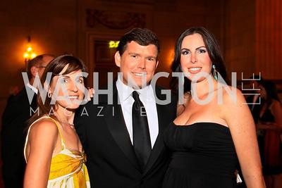 Jenn Haber, Bret and Amy Baier. Photo by Tony Powell. Heart's Delight Vintners Dinner. Mellon Auditorium. May 7, 2010