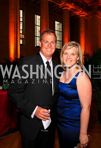 Brian and Kelly McCormick. Photo by Tony Powell. Heart's Delight Vintners Dinner. Mellon Auditorium. May 7, 2010