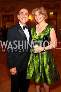 Bill Homan and daughter Nicole Norton. Photo by Tony Powell. Heart's Delight Vintners Dinner. Mellon Auditorium. May 7, 2010