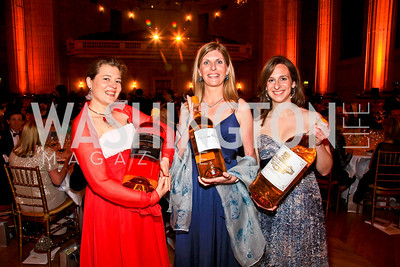 Laure Planty, Virgine Achou-Lepage, Aline Baly Coutet. Photo by Tony Powell. Heart's Delight Vintners Dinner. Mellon Auditorium. May 7, 2010
