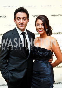 "Dennis and Heather Menis. Photo by Tony Powell. Hisaoka ""Make a Difference"" Gala. Mandarin Oriental. September 24, 2010"