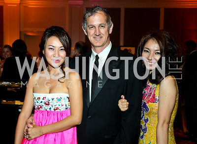 "Sung Hee, Mike Thomson, Nabee Kim. Photo by Tony Powell. Hisaoka ""Make a Difference"" Gala. Mandarin Oriental. September 24, 2010"