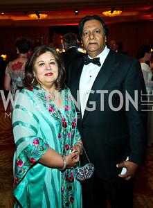 """Shaista and Ray Mahmood. Photo by Tony Powell. Hisaoka """"Make a Difference"""" Gala. Mandarin Oriental. September 24, 2010"""