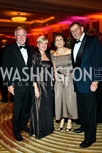 "Ken and Faye Morrissette, Mary and Bill Lauttamus. Photo by Tony Powell. Hisaoka ""Make a Difference"" Gala. Mandarin Oriental. September 24, 2010"