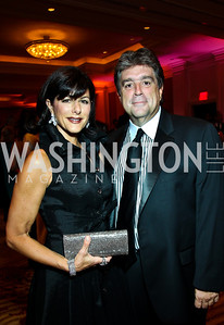 "Koula and Tom Papadopoulos. Photo by Tony Powell. Hisaoka ""Make a Difference"" Gala. Mandarin Oriental. September 24, 2010"