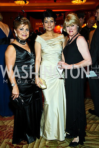 "Annie Totah, Shamim Jawad, Ineke Kreeger. Photo by Tony Powell. Hisaoka ""Make a Difference"" Gala. Mandarin Oriental. September 24, 2010"