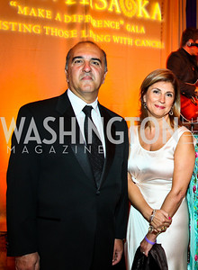 "Reza and Fariba Jahanbani. Photo by Tony Powell. Hisaoka ""Make a Difference"" Gala. Mandarin Oriental. September 24, 2010"