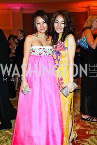 "Sung Hee, Nabee Kim. Photo by Tony Powell. Hisaoka ""Make a Difference"" Gala. Mandarin Oriental. September 24, 2010"