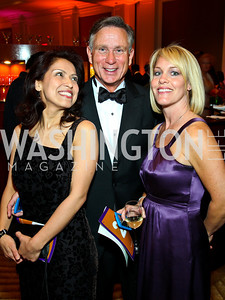 "Diana Villarreal, Andy Viola, Angie Pagnato. Photo by Tony Powell. Hisaoka ""Make a Difference"" Gala. Mandarin Oriental. September 24, 2010"