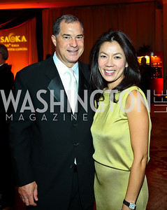 "Jim and Mai Abdo. Photo by Tony Powell. Hisaoka ""Make a Difference"" Gala. Mandarin Oriental. September 24, 2010"