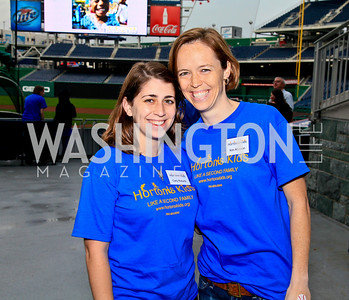 Carly Roberts, Kim Atkinson. Photo by Tony Powell. Home Runs for Horton's Kids. Nationals Park. May 12, 2010