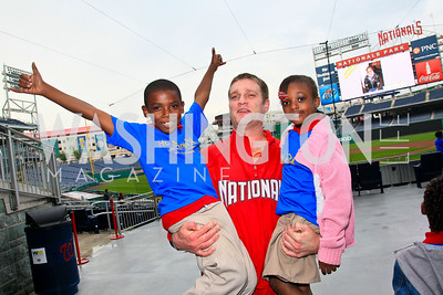 Carlos Kirksey, Will Griffith, Iisis Griggs. Photo by Tony Powell. Home Runs for Horton's Kids. Nationals Park. May 12, 2010