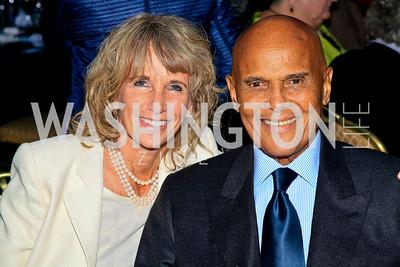 Pamela and Harry Belafonte. Photo by Tony Powell. The Hubert H. Humphrey Civil and Human Rights Award Dinner. Washington Hilton. May 12, 2010