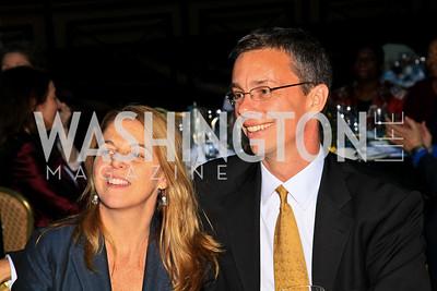 Kathy Fletcher, David Simpson. Photo by Tony Powell. The Hubert H. Humphrey Civil and Human Rights Award Dinner. Washington Hilton. May 12, 2010