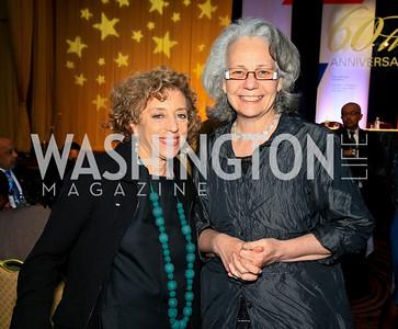Ellen Chesler, Kathy Bonk. Photo by Tony Powell. The Hubert H. Humphrey Civil and Human Rights Award Dinner. Washington Hilton. May 12, 2010