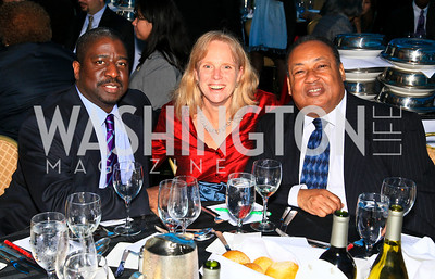 Henry Thaggert, Carol Kaplan, Leon Russell. Photo by Tony Powell. The Hubert H. Humphrey Civil and Human Rights Award Dinner. Washington Hilton. May 12, 2010
