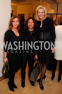 Linda Erkiletian,Vici Subiyanto,Cynthia Vance,December 5,2010,Isaac Mizrahi at Saks Jandel,Kyle Samperton