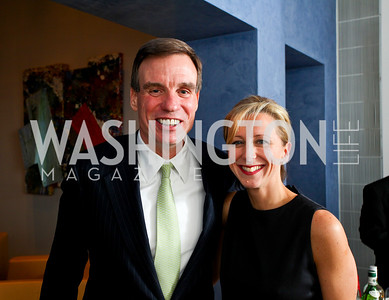 Senator Mark Warner, Jean-Marie Fernandez. Cocktail Reception at the home of Jack Davies to celebrate THEARC. December 1, 2009. photos by Tony Powell