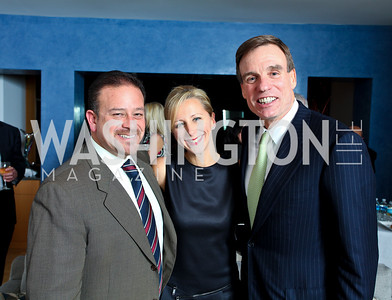 Raul and Jean-Marie Fernandez with Senator Mark Warner. Cocktail Reception at the home of Jack Davies to celebrate THEARC. December 1, 2009. photos by Tony Powell