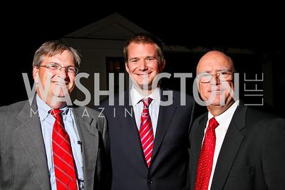 Photo by Tony Powell. Dan Murphy, Seth Martin, Rick Mostyn. Abdo Dinner for Catholic University. October 27, 2010