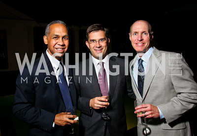 Photo by Tony Powell. Eric Price, Paul Tummonds, Ed Rogers. Abdo Dinner for Catholic University. October 27, 2010