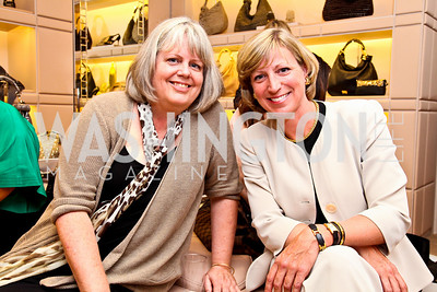 Cheryl Howard, Jane-Scott Cantus. Photo by Tony Powell. Jimmy Choo/Suited for Change Shopping Event. September 23, 2010