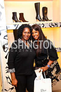Pat Morris, Natalie Middleton. Photo by Tony Powell. Jimmy Choo/Suited for Change Shopping Event. September 23, 2010