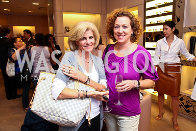 Melissa Yeager, Noreen Henig. Photo by Tony Powell. Jimmy Choo/Suited for Change Shopping Event. September 23, 2010