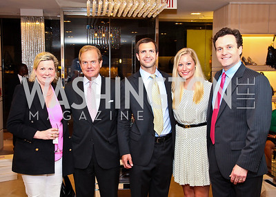 Peggy Lomax, Steve Hays, Rich McPhillips, Meredith Casey, Fred Dent. Photo by Tony Powell. Jimmy Choo/Suited for Change Shopping Event. September 23, 2010