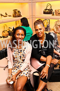 Page Boddie, Marie Graves. Photo by Tony Powell. Jimmy Choo/Suited for Change Shopping Event. September 23, 2010