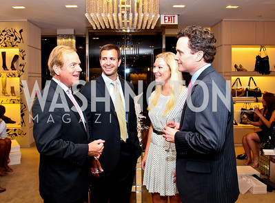 Steve Hays, Rich McPhillips, Meredith Casey, Fred Dent. Photo by Tony Powell. Jimmy Choo/Suited for Change Shopping Event. September 23, 2010