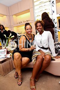 Nicole Venable, Patrice Webb. Photo by Tony Powell. Jimmy Choo/Suited for Change Shopping Event. September 23, 2010