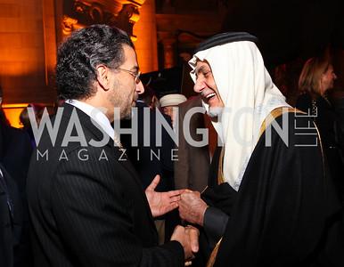 Yemen Amb. Abdulwahab Al-Hajjri, Prince Turki al-Faisal. Journey to Mecca IMAX Gala Screening. Museum of Natural History. January 13, 2010. photos by Tony Powell