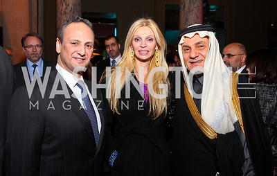 Kuwait Amb. Salem Al-Sabah, Rima Al-Sabah, Prince Turki al-Faisal. Journey to Mecca IMAX Gala Screening. Museum of Natural History. January 13, 2010. photos by Tony Powell