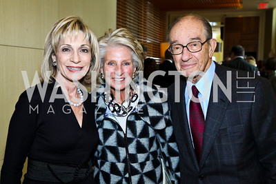 Photo by Tony Powell. Andrea Mitchell, Jane Harman, Dr. Alan Greenspan. George Stevens Brunch. Mandarin Oriental. December 5, 2010