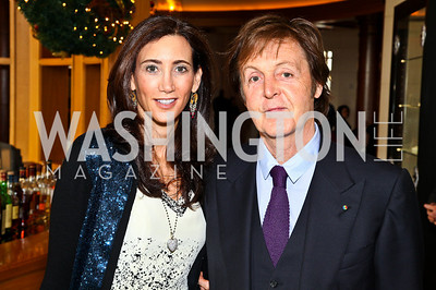Photo by Tony Powell. Nancy Shevell, Sir Paul McCartney. George Stevens Brunch. Mandarin Oriental. December 5, 2010