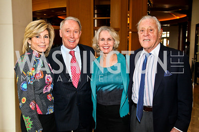 Photo by Tony Powell. Katherine Wood, Jim Kimsey, Sally Quinn and Ben Bradlee. George Stevens Brunch. Mandarin Oriental. December 5, 2010