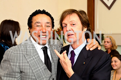 Photo by Tony Powell. Smokey Robinson, Sir Paul McCartney. George Stevens Brunch. Mandarin Oriental. December 5, 2010