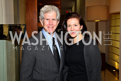 Photo by Tony Powell. Actor Tony Roberts and daughter Nicole Burley. George Stevens Brunch. Mandarin Oriental. December 5, 2010