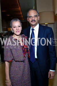 Photo by Tony Powell. Sharon Malone, Attorney General Eric Holder. George Stevens Brunch. Mandarin Oriental. December 5, 2010