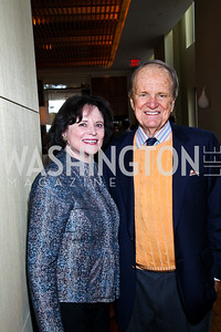 Photo by Tony Powell. Elizabeth Stevens and George Stevens Jr. George Stevens Brunch. Mandarin Oriental. December 5, 2010