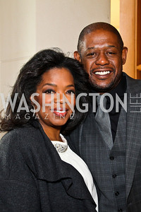 Photo by Tony Powell. Oprah Winfrey, Forest Whitaker. George Stevens Brunch. Mandarin Oriental. December 5, 2010