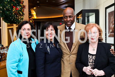 Photo by Tony Powell. Ann Jordan, Antoinette Cook Bush, Vernon Jordan, Buffy Cafritz. George Stevens Brunch. Mandarin Oriental. December 5, 2010