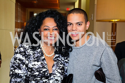Photo by Tony Powell. Diana Ross and son Evan Ross. George Stevens Brunch. Mandarin Oriental. December 5, 2010