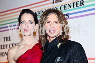 Photo by Tony Powell. Erin Brady, Steven Tyler. Kennedy Center Honors Red Carpet. December 5, 2010