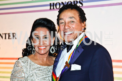 Photo by Tony Powell. Frances Gladney and Smokey Robinson. Kennedy Center Honors Red Carpet. December 5, 2010
