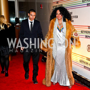 Photo by Tony Powell. Evan and Diana Ross. Kennedy Center Honors Red Carpet. December 5, 2010