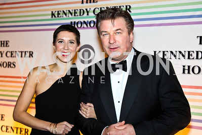 Photo by Tony Powell. Johanna Cox, Alec Baldwin. Kennedy Center Honors Red Carpet. December 5, 2010