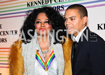 Photo by Tony Powell. Diana and Evan Ross. Kennedy Center Honors Red Carpet. December 5, 2010